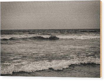Lonely Ocean Wood Print by J Riley Johnson