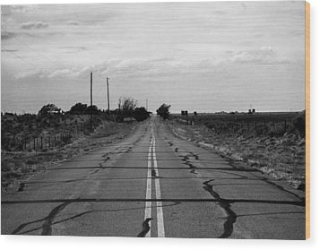 Lonely Road Wood Print
