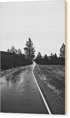 Lonesome Highway No. 2 Wood Print by Lennie Green