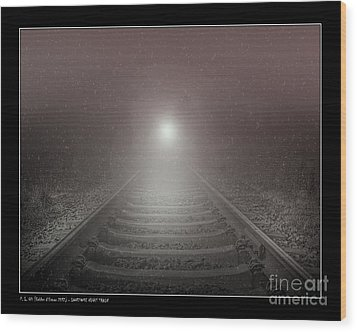 Lonesome Night Train Wood Print by Pedro L Gili