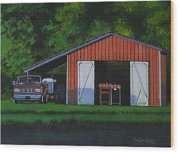 Lonesome Road Satsumas Wood Print by Ben Bensen III