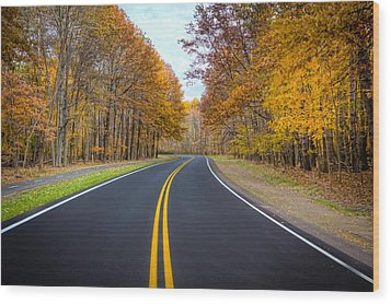 Long And Winding Road Wood Print