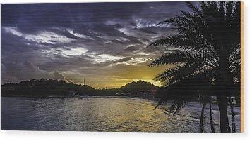 Long Bay Sunrise 1 Wood Print