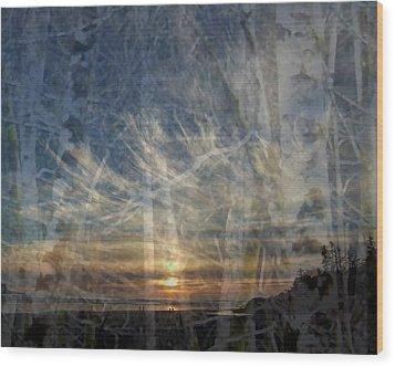 Long Beach Alders Wood Print by Lyn  Perry