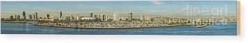 Long Beach California Wood Print by Clear Sky Images