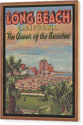 Long Beach Wood Print