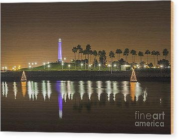 Long Beach Lighthouse Wood Print
