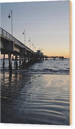 Wood Print featuring the photograph Long Beach Pier by Kyle Hanson