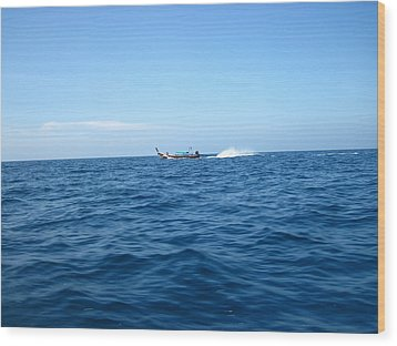 Long Boat Tour - Phi Phi Island - 0113132 Wood Print by DC Photographer