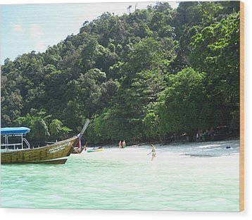 Long Boat Tour - Phi Phi Island - 0113170 Wood Print by DC Photographer