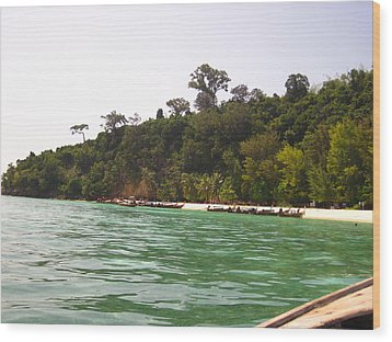 Long Boat Tour - Phi Phi Island - 0113216 Wood Print by DC Photographer