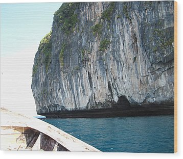 Long Boat Tour - Phi Phi Island - 011391 Wood Print by DC Photographer