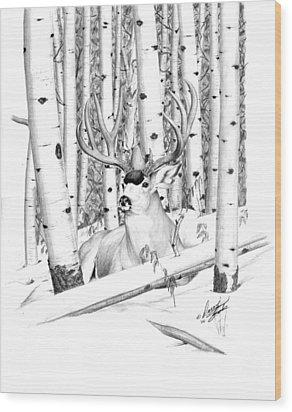 Long Buck Wood Print