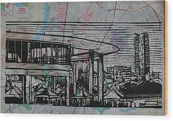 Long Center On Map Wood Print by William Cauthern