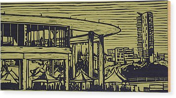 Long Center Wood Print by William Cauthern