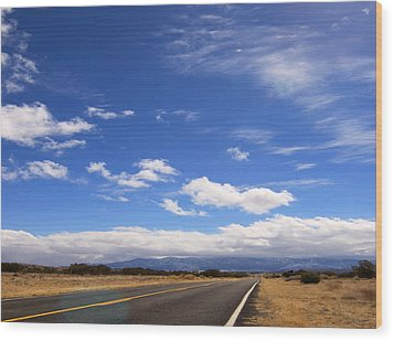 Wood Print featuring the photograph Long Highway by Bob Pardue