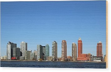 Long Island City Wood Print by Jim Poulos