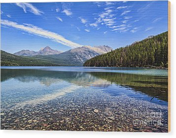 Long Knife Peak At Kintla Lake Wood Print by Scotts Scapes