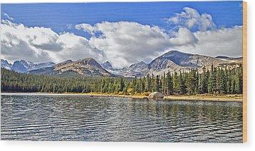 Long Lake Colorado Wood Print