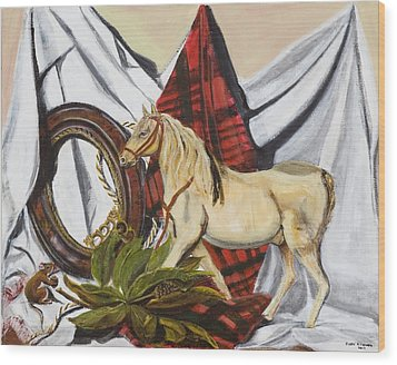 Wood Print featuring the painting Long May He Ride by Susan Culver