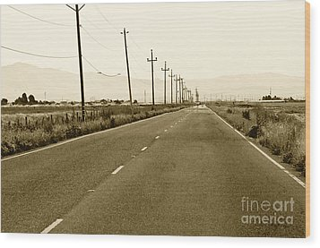Long Road Home Wood Print by Artist and Photographer Laura Wrede