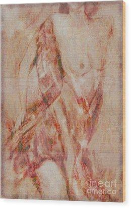 Wood Print featuring the digital art Long Scarf by Gabrielle Schertz