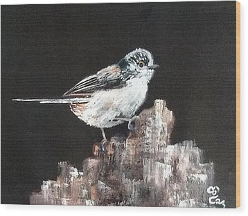 Long-tailed Tit Wood Print by Carole Robins