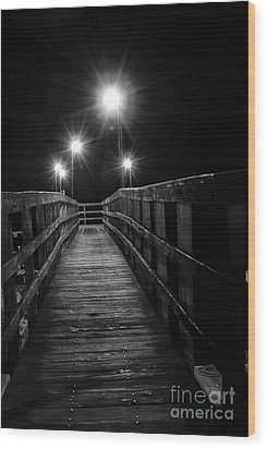 Wood Print featuring the photograph Long Walk On A Short Pier by Terry Garvin