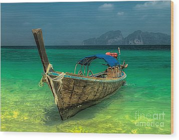 Wood Print featuring the photograph Longboat by Adrian Evans