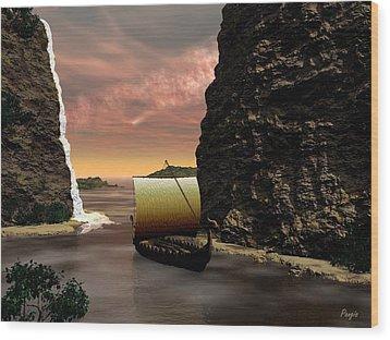 Longboat Wood Print by John Pangia