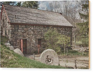 Longfellow's Wayside Inn Grist Mill Wood Print by Jeff Folger