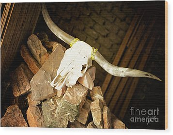 Wood Print featuring the photograph Longhorn by Erika Weber