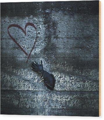 Longing For Love Wood Print by Joana Kruse