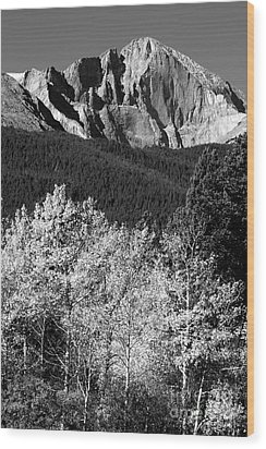 Longs Peak 14256 Ft Wood Print