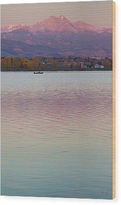 Longs Peak 2 Wood Print by Aaron Spong