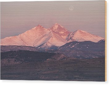 Longs Peak 4 Wood Print by Aaron Spong