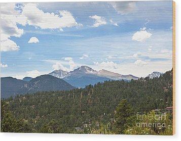 Longs Peak Wood Print by Kay Pickens