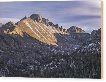 Longs Peak Sunset Wood Print