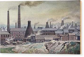 Longton Skyline Wood Print by Anthony Forster