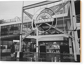 lonsdale quay market shopping mall north Vancouver BC Canada Wood Print by Joe Fox