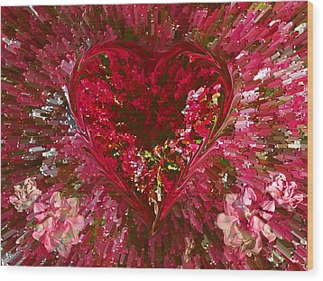 Look Deep Into My Heart Wood Print