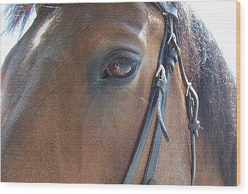 Look In My Eye Wood Print