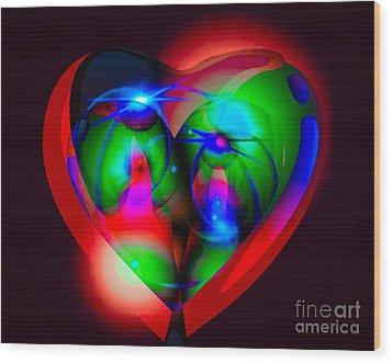 Look Inside My Heart Wood Print