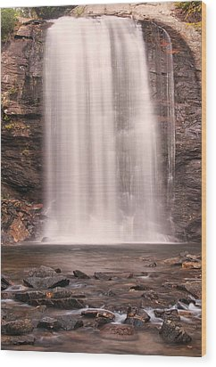 Wood Print featuring the photograph Lookging Glass Falls by Tyson and Kathy Smith