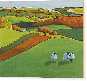 Looking At Ewe Wood Print