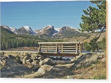 Looking At Longs Peak Colorado Wood Print