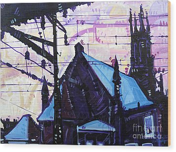 Looking At Saint Peters Wood Print by Michael Ciccotello