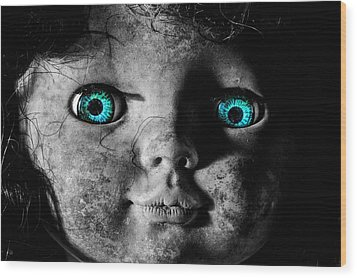 Looking At You Kid Wood Print by JC Findley