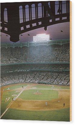 Brillant Yankee Stadium Wood Print by Retro Images Archive