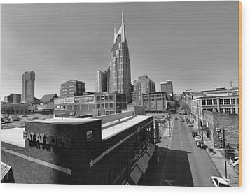 Looking Down On Nashville Wood Print by Dan Sproul